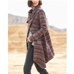 New Garnet Hill Asymmetrical Boiled Wool Coat 2